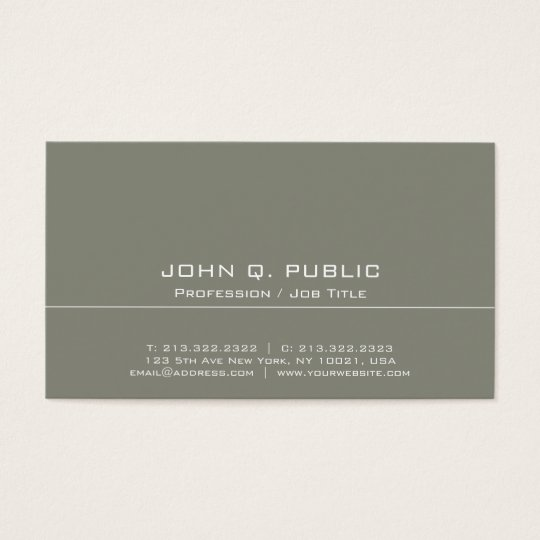 Vintage Professional Elegant Colour Harmony Business Card