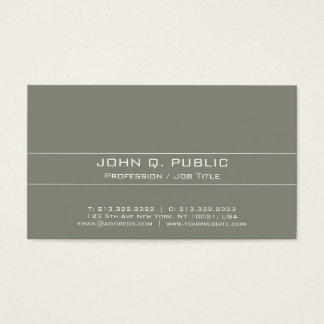 Vintage Professional Elegant Harmonic Colors Business Card
