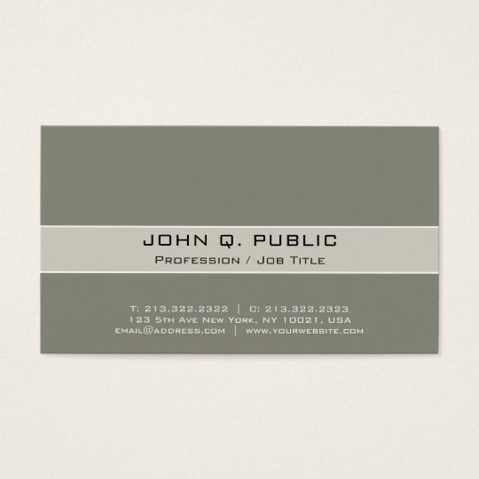 Vintage Professional Elegant Harmonic Colours Business Card