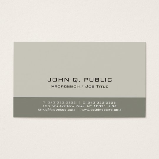 Vintage Professional Sophisticated Colours Plain Business Card