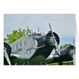 Vintage propeller aircraft card