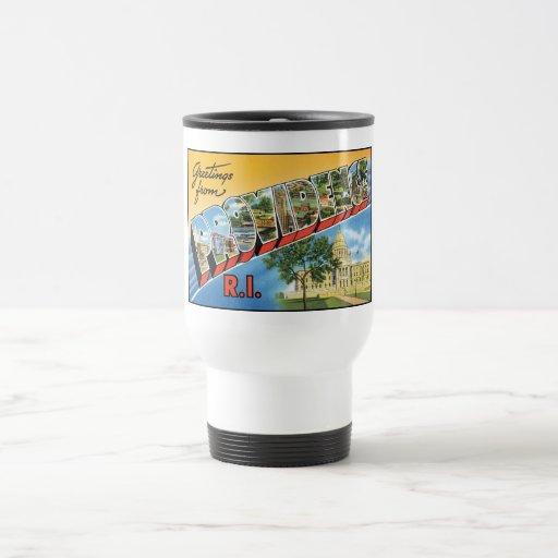 Vintage Providence, RI Postcard Mugs, Steins Stainless Steel Travel Mug