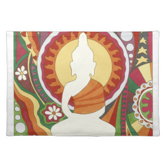 Vintage Psychedelic Buddha Placemat