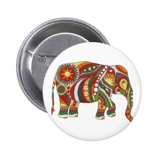 Vintage Psychedelic Elephant 2 Inch Round Button