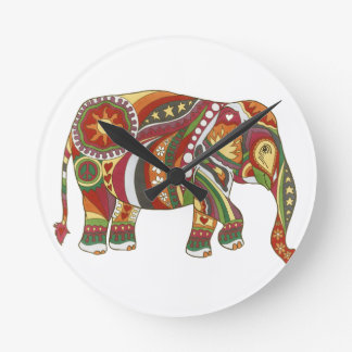 Vintage Psychedelic Elephant Wall Clocks