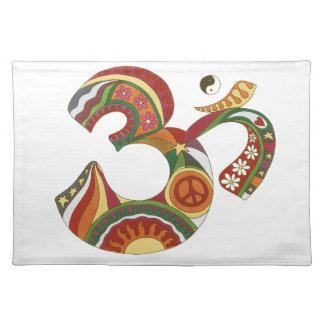 Vintage Psychedelic Fat Om Placemat