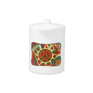 Vintage Psychedelic Flaming Peace