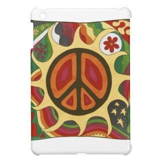 Vintage Psychedelic Flaming Peace iPad Mini Covers