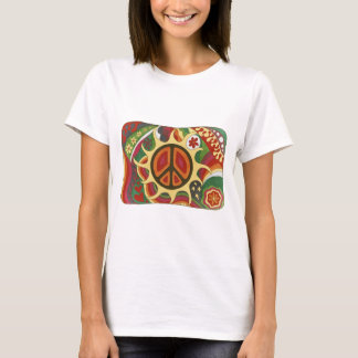 Vintage Psychedelic Flaming Peace T-Shirt
