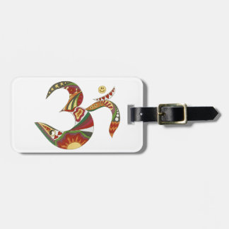 Vintage Psychedelic Om Luggage Tag