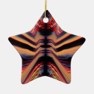 Vintage psychedelic pattern ceramic ornament