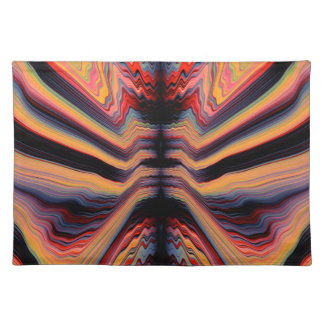 Vintage psychedelic pattern placemat