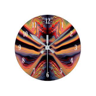 Vintage psychedelic pattern round clock