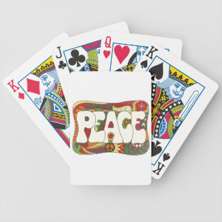 Vintage Psychedelic Peace and Love Bicycle Playing Cards