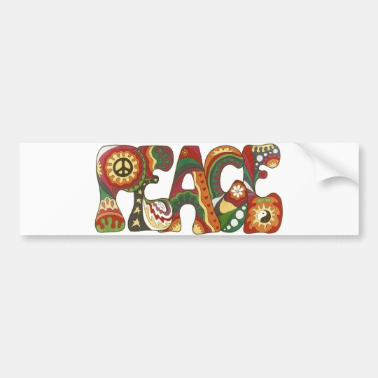 Vintage Psychedelic Peace Bumper Sticker