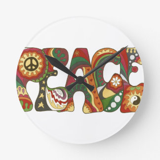 Vintage Psychedelic Peace Wallclock