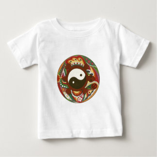 Vintage Psychedelic Yin Yang Turtle Baby T-Shirt