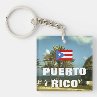 Vintage Puerto Rico Photography Keychain