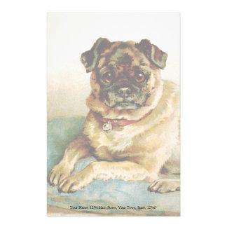Vintage Pug Love Customized Stationery