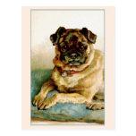 Vintage Pug Love Postcard