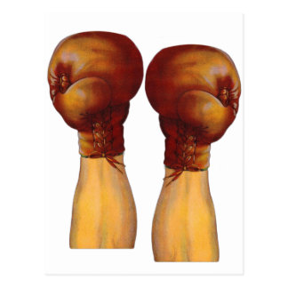Vintage Pugulast Boxing Gloves One Two Punch Postcard