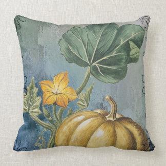 Vintage Pumpkin on Vine Throw Pillow