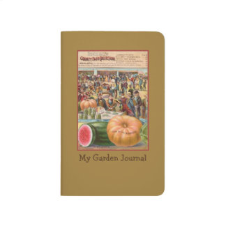 Vintage Pumpkin Seed Packet Garden Pocket Journal