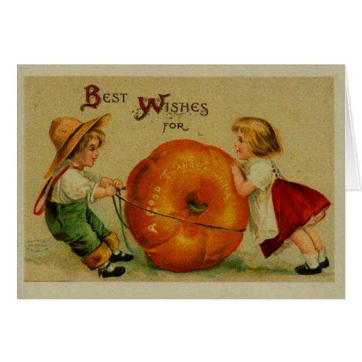 Vintage Pumpkin Thanksgiving Card