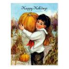 Vintage Pumpkins Postcard