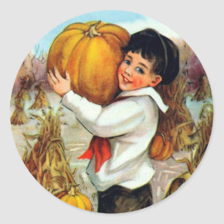 Vintage Pumpkins Stickers