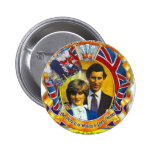 Vintage Punk  80'sroyal wedding Charles and Di 2 Inch Round Button