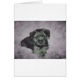 Vintage puppy card