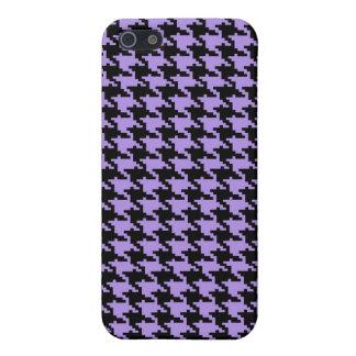 Vintage purple and black houndstooth iPhone 5/5S case