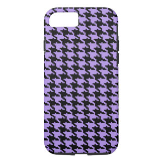 Vintage purple and black houndstooth iPhone 7 case