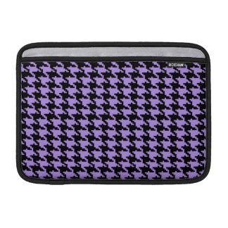 Vintage purple and black houndstooth MacBook air sleeves