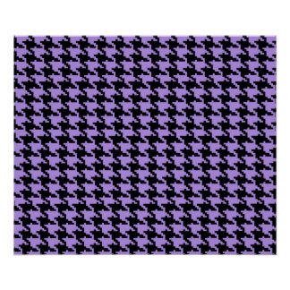 Vintage purple and black houndstooth poster