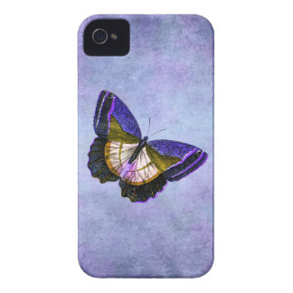 Vintage Purple and Gold Butterfly Illustration Case-Mate iPhone 4 Case