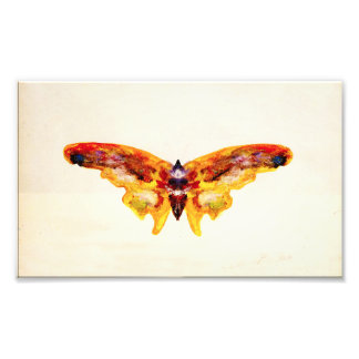 Vintage Purple and Yellow Butterfly Photo Print