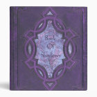 Vintage Purple Book of Shadows 3 Ring Binder