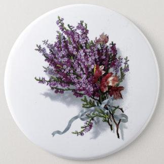 Vintage Purple Bouquet 6 Inch Round Button