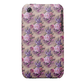 Vintage Purple Brown Floral iPhone 3 Case