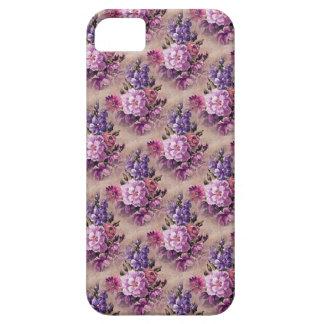 Vintage Purple Brown Floral iPhone 5 Case