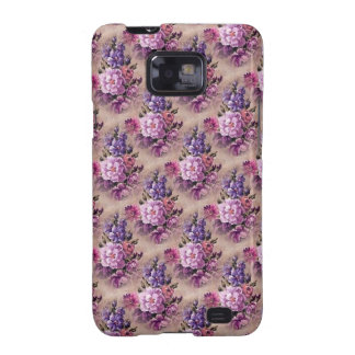 Vintage Purple Brown Floral Samsung Galaxy Cover Galaxy SII Covers