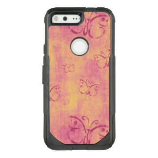 Vintage Purple Butterflies on Pink OtterBox Commuter Google Pixel Case