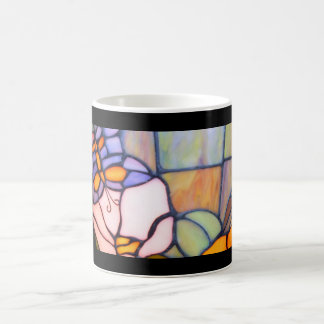 Vintage Purple Butterfly Stained Glass Mug