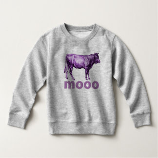 Vintage Purple Cow Illustration Moo Shirt