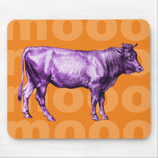 Vintage Purple Cow Moo Mouse Pad