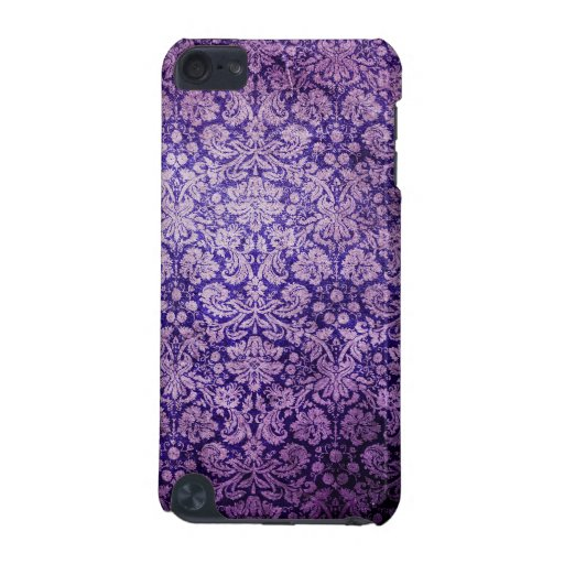 Vintage  Purple Floral  Damask iPod Touch (5th Generation) Cover