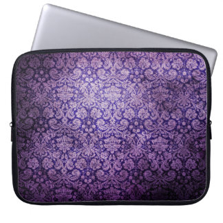 Vintage  Purple Floral  Damask Laptop Sleeve