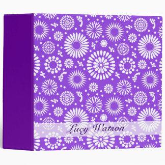 Vintage purple flowers binders